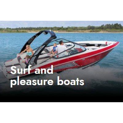 Surf and pleasure boats