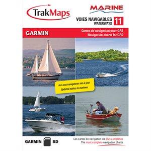 Trakmaps Marine Interior Lakes V11 for Garmin