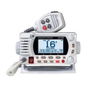 Radio VHF fixe Explorer GX1850 de Standard Horizon (blanc)