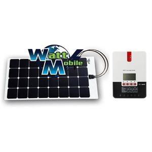 EcoSolPlanète 100W Flex Solar Panel Kit + MPPT Regulator