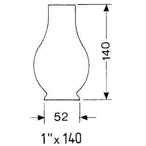 Chimney for oil lamp